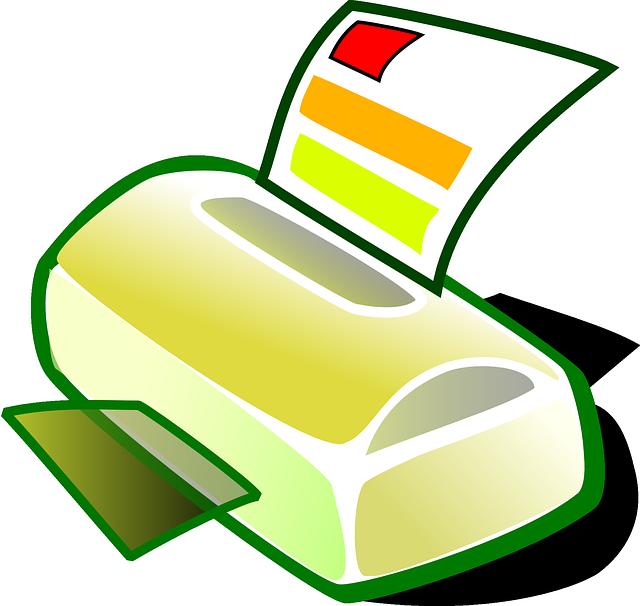 tiskárna ilustrace