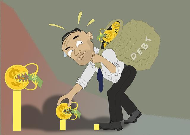 chudák s dluhy