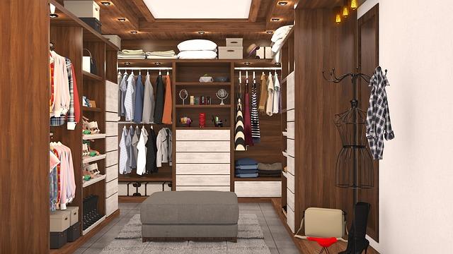 šatní vestavěné skříně