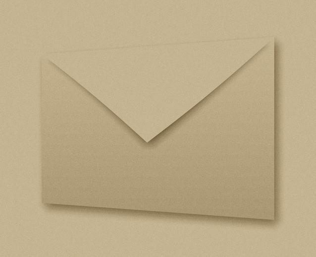 papírová poštovní obálka