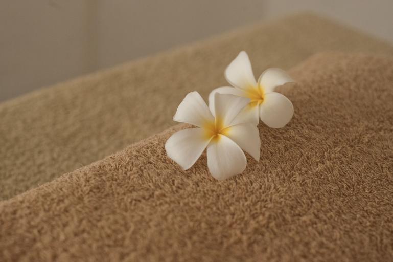 květiny na ručníku